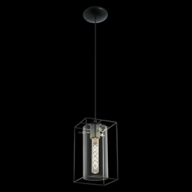 49495 Loncino 1 Light Ceiling Pendant Black