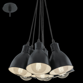 49467 Priddy 7 Light Ceiling Pendant Black