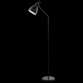49471 Priddy 1 Light Floor Lamp Black