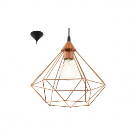 94194 Tarbes 1 Light Ceiling Pendant Copper
