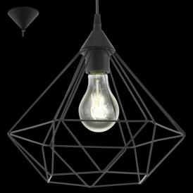94188 Tarbes 1 Light Ceiling Pendant Black