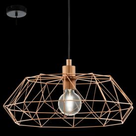 49488 Carlton2 1 Light Ceiling Pendant Copper
