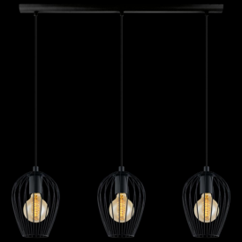 49478 Newtown 3 Light Ceiling Pendant Black