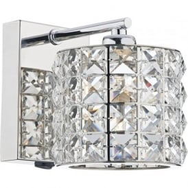 AGN0750 Agneta 1 Light Switched Wall Light Polished Chrome