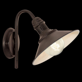 Eglo 49458 Stockbury 1 Light Wall Light Antique Brown