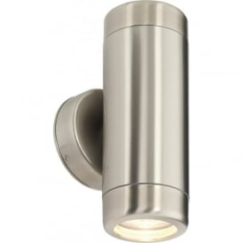 Endon 14015 Atlantis 2 Light Outdoor Wall Light Marine Grade Stainless Steel IP65