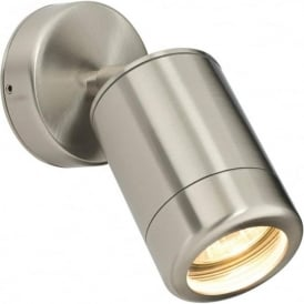 14017 Atlantis 1 Light Outdoor Wall Spot Light Marine Grade Stainless Steel IP65
