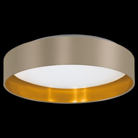 31624 Maserlo LED Ceiling Light Glossy Taupe