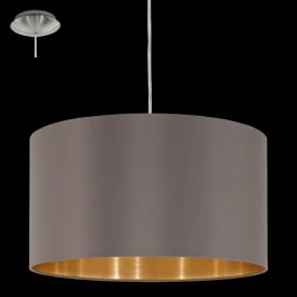 31603 Maserlo 1 Light Pendant Glossy Cappucino