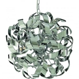 4974-4CC Curls 4 Light Ceiling Pendant Polished Chrome