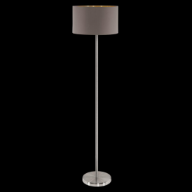95172 Maserlo 1 Light Floor Lamp Glossy Cappucino