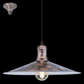 49454 Bridport 1 Light Ceiling Pendant Antique Copper