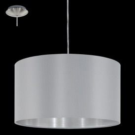 31601 Maserlo 1 Light Pendant Glossy Grey