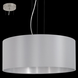31606 Maserlo 3 Light Pendant Glossy Grey