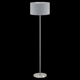 95173 Maserlo 1 Light Floor Lamp Glossy Grey