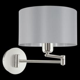 95057 Maserlo 1 Light Switched Wall Light Glossy Grey