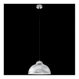 49389 Truro2 1 Light Ceiling Pendant Antique Silver