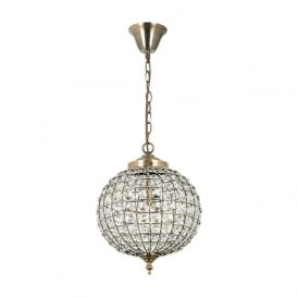 EH-TANARO-AB Tanaro 1 Light Pendant Antique Brass