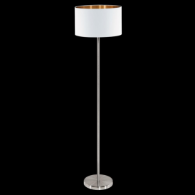 95174 Pasteri 1 Light Floor Lamp Matt White