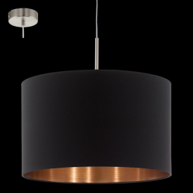 94913 Pasteri 1 Light Pendant Matt Black