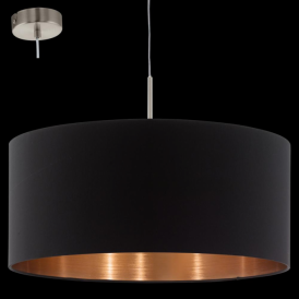94914 Pasteri 1 Light Pendant Matt Black