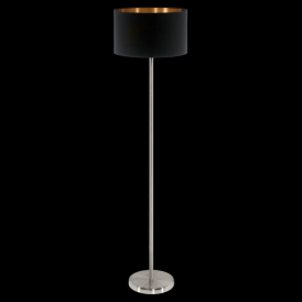 95175 Pasteri 1 Light Floor Lamp Matt Black