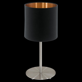 94917 Pasteri 1 Light Table Lamp Matt Black