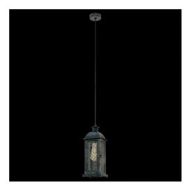 49215 Lisburn1 1 Light Ceiling Lantern Patina Green