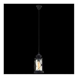 49213 Bradford 1 Light Ceiling Lantern Black