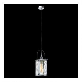 49212 Donmington 1 Light Ceiling Lantern Polished Chrome