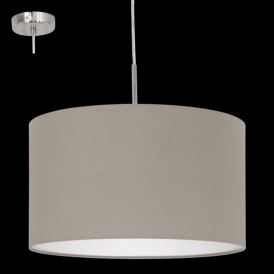 31572 Pasteri 1 Light Pendant Taupe