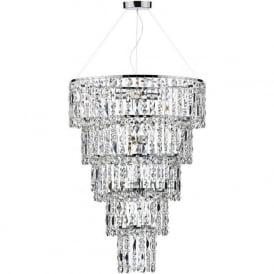 ESC0650 Escala 6 Light Crystal Pendant Polished Chrome