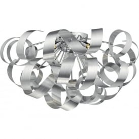 RAW0550 Rawley 5 Light Flush Ceiling Light Aluminium