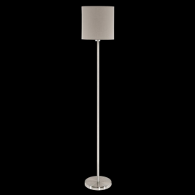 95167 Pasteri 1 Light Floor Lamp Taupe