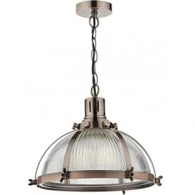 DEB0164 Debut 1 Light Pendant Copper