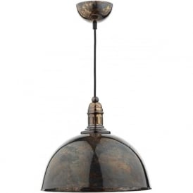 YOK0163 Yoko 1 Light Pendant Mottled Bronze