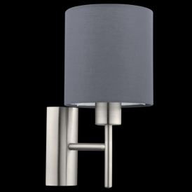 94926 Pasteri 1 Light Switched Wall Light Grey