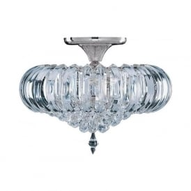 50004CC Sigma 5 Light Semi-Flush Ceiling Light Polished Chrome