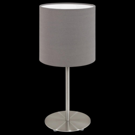 31597 Pasteri 1 Light Table Lamp Anthracite/Brown