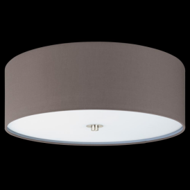 94922 Pasteri 3 Light Ceiling Light Anthracite/Brown