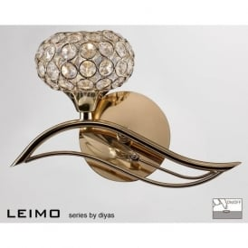 IL30961/L Leimo 1 Light Switched Wall Light French Gold