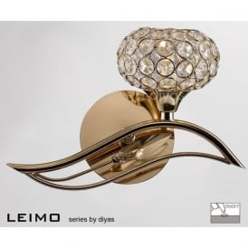 IL30961/R Leimo 1 Light Switched Wall Light French Gold