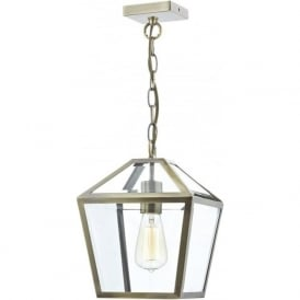 CHU0175 Churchill 1 Light Lantern Antique Brass