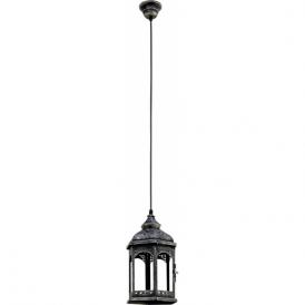 49225 Redford1 1 Light Ceiling Lantern Antique Silver