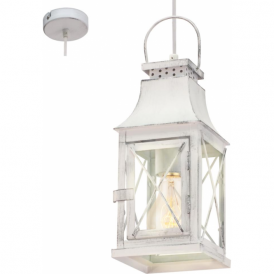 49222 Lisburn 1 Light Ceiling Pendant Patina Grey