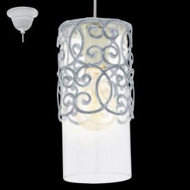 49202 Cardigan 1 Light Ceiling Pendant Grey/Blue