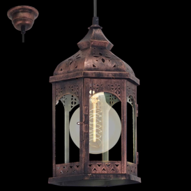 49224 Redford1 1 Light Ceiling Lantern Copper