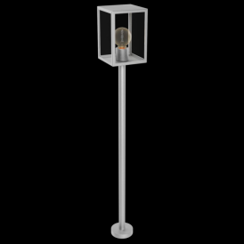 94829 Alamonte 1 Light IP44 Post Lamp Stainless Steel