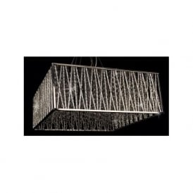 CFH310221/05/CH Melenki 5 Light Crystal Ceiling Pendant Polished Chrome