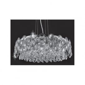 CF412181/12/CH Raina 12 Light Crystal Ceiling Pendant Polished Chrome